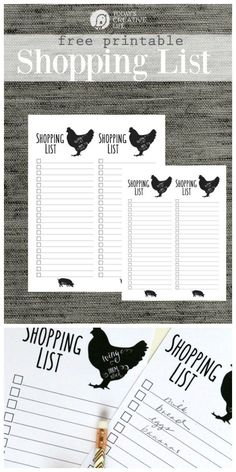 Grocery List Free Printable | Stay organized by having a shopping list for your weekly menu of meals. This modern farmhouse printable shopping list looks as stylish as it is functional! Grab your free grocery list template on TodaysCreativeLife.com Just click the photo.