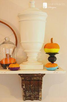 DIY - paint dipped pumpkins