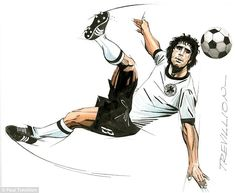 Der Bomber: Gerd Muller scored 68 goals in 62 matches for West Germany and won the 1974 Wo...