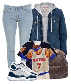 """11/23/15"" by clickk-mee ❤ liked on Polyvore featuring True Religion, Louis Vuitton and Retrò"