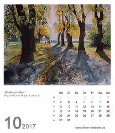 Kalender 2017 mit einer Auswahl unserer Aquarelle