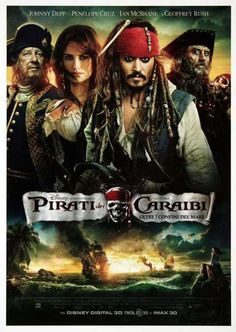 Pirates of the Caribbean: On Stranger Tides 2011 - Johnny Depp, Penelope Cruz, Geoffrey Rush, and Ian McShane. Music by Hans Zimmer. 2011 Movies, Hd Movies, Disney Movies, Movies To Watch, Movies Online, Movies And Tv Shows, Johnny Depp, Penelope Cruz, Love Movie