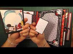 Mickey & Minnie - Disney Mini Album - YouTube.... I love this album... No tutorial but great ideas!