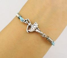Lovely Ballet Girl Dancer charm Bracelet in by ThePrettyGirlShow, $1.29