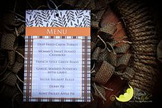 Thanksgiving Menu ideas - Menu card from www.theenglishpea.com