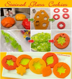 Step-by-step tutorial for making stunning stained glass cookies for Fall