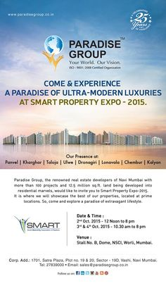 We invite all of you to visit us and explore the paradise with us come experience a paradise of ultra modern luxuries at smart property expo smart stopboris Images