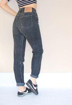 Vintage+501+Button+Fly+High+Waist++Levi's++Jeans+