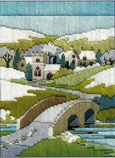 Winter Walk, longstitch embroidery kit by Derwentwater, UK