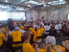 More from Opening Ceremonies. Look at all of our support! Marathon, Basketball Court, Sports, Marathons, Sport