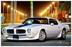 1970 Pontiac Firebird Trans Am in American racing livery: white with blue striping. Rat Rods, Buick, Pontiac Cars, Pontiac Firebird Trans Am, Pony Car, Hot Rides, Sweet Cars, Us Cars, Cars Usa