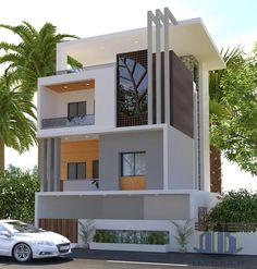 Ideas For Exterior House Design Modern Facades Architecture - Exterior Design Bungalow Haus Design, Duplex House Design, House Front Design, Modern House Design, Bungalow Ideas, Luxury Homes Exterior, Bungalow Exterior, Modern Exterior, Exterior Design