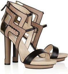 Burak Uyan black and gold platform sandals, Spring/Summer 2012