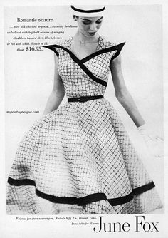 I LOVE the styling on this dress! Look at that bodice! Women's vintage fashion photography photo image
