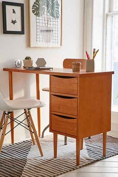 Lars Desk - Urban Outfitters - Drawers pull from either side
