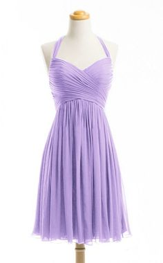 WeiYin Women's Halter Short Party Dress Bridesmaid Dresses Lavender US 22W