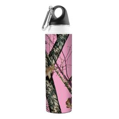 TreeFree Greetings VB48979 Artful Traveler Stainless Water Bottle Pink Break Up Mossy Oak Camo 18Ounce *** Read more reviews of the product by visiting the link on the image.Note:It is affiliate link to Amazon. #cute