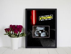 Star Wars Theme Pregnancy Announcement - Instant Download - The Force is Strong With This One by BabyBlabber on Etsy https://www.etsy.com/listing/517713949/star-wars-theme-pregnancy-announcement