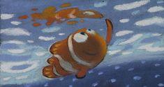 ラルフ・エッグルストン ≪遠足のシーンのパステル画≫『ファインディング・ニモ』(2003年) パステル/紙 ©Disney/Pixar