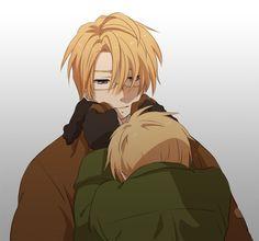 Cute, but it also looks sad. Usuk Hetalia. America x England, Alfred x Arthur.
