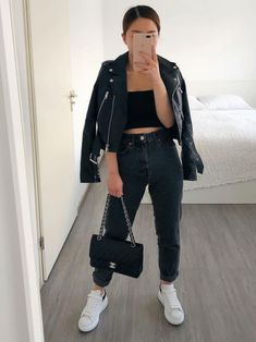 Simple Outfits, Pretty Outfits, Stylish Outfits, Cool Outfits, Summer Fashion Outfits, Spring Fashion, Girl Fashion, Womens Fashion, Rocker Chic Style