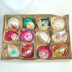 Box Poland 1950s Blown Glass Parachute, Balloon, Indent Christmas Ornaments $89.00 I have most of these. Mary T.