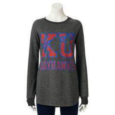Kansas Jayhawks Long-Sleeve Tunic - Juniors (XL)