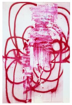 Christopher Wool. I like the single use of one main color, red. I like how the line seems to go on forever and drip downwards at some points. I want to try something like that in the future.