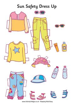 We love this paper doll activity you can try out with your kids - it helps show them what areas of their body they need to protect from the sun!