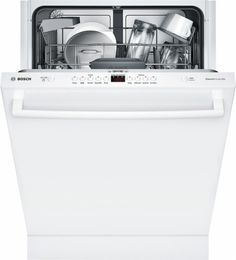 "Bosch - Ascenta 24"" Tall Tub Built-In Dishwasher with Stainless-Steel Tub - White - AlternateView2 Zoom"
