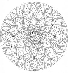 Difficult Level Mandala Coloring Pages | Mandala 1 WIP by Artwyrd: