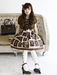 alternativepurple:  Innocent World Antique Playing Cards dress ♥   So lovely~~~~~Q////w//Q