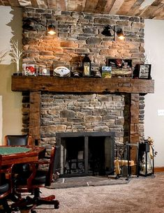 A fireplace may be a great add-on to a home. Besides being an excellent decorative element of the house, recently the fireplace is among the most attractive alternatives for heating. If you wish to create a fireplace which is not… Continue Reading → Fireplace Mantel Christmas Decorations, Modern Fireplace Mantels, Cabin Fireplace, Rustic Mantel, Wood Mantels, Rustic Fireplaces, Farmhouse Fireplace, Fireplace Remodel, Fireplace Design