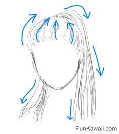 How to Draw Hair Anime Women- Free Printable Practice Sheets! - How to Draw Hair Anime Women- Free Printable Practice Sheets! - How t. Drawing Hair Tutorial, Eye Drawing Tutorials, Drawing Tips, Art Tutorials, Drawing Ideas, Drawing Lessons, Pencil Art Drawings, Art Drawings Sketches, Easy Drawings