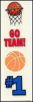 Go Team: Basketball Temporaray Tattoo by Tattoo Fun. $0.99. Show your team and school pride with these awesome spirt temporary tattoos! Great for games or pep rallys, make sure everyone knows your team is the best around!