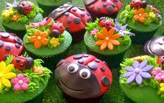 Lady Bug Cupcakes ~!