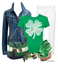 Lucky Clover by stylesbyjoey on Polyvore featuring J.Crew, Denim & Supply by Ralph Lauren and Alice + Olivia