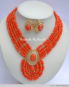 Nigerian Beads Jewelry | Stunning Blue & Silver Coral Bead Designs For Traditional Engagement ...