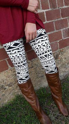 Black & White Print Legging. Will be doing this winter!