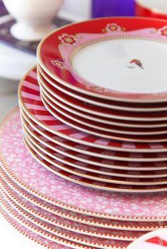 louças coloridas-22 como receber em casa decoração mesas