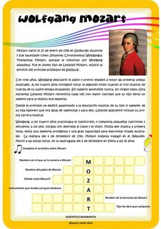 Word Search, Periodic Table, Words, Salzburg, January 27, Conservatory, Composers, Musicals, Periodic Table Chart