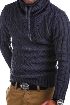 Wow summer mens fashion that look really hot 060254 Mens Fashion Sweaters, Knitwear Fashion, Men Sweater, Nice Outfits For Men, Hand Knitted Sweaters, Mens Fall, Well Dressed Men, Mens Clothing Styles, Men Dress