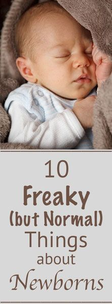 Wondering if your newborn baby's rash or diaper contents are normal? Here is a list of the top 10 freaky but normal things you may be seeing.
