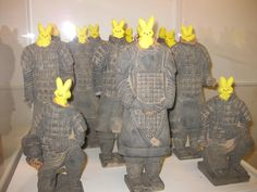 "Warriors of ""Peep Shi Huang"", First Peep Emperor of China.  Creators: Sarah A. and the SAM Shop, Seattle."