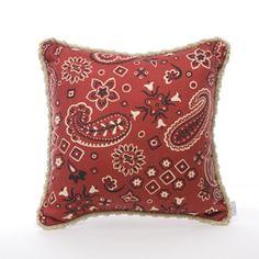 Bandana-print pillows for picnics. Bandana Girl, Red Bandana, Bandana Print, Baby Girl Presents, Baby Gifts, Buy Pillows, Throw Pillows, White Wood Furniture, Girl Nursery