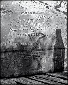 8x10 Black and White Drink CocaCola by JoelPalmer on Etsy, $20.00