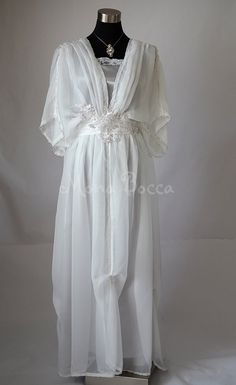 Edwardian wedding dress ivory silver Downton Abbey inspired handmade in England Lady Mary styled Made to order Express delivery