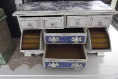 Elegant Antique White Hand Painted Jewelry Box with by Eweniques, $107.00