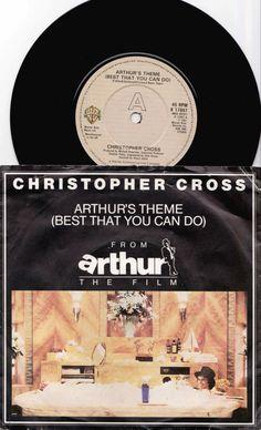 "CHRISTOPHER CROSS Arthur's Theme 1981 Uk Issue 7"" 45 rpm Vinyl Single Record Pop Rock 80s Music Film Dudley Moore K17847 Free Shipping"
