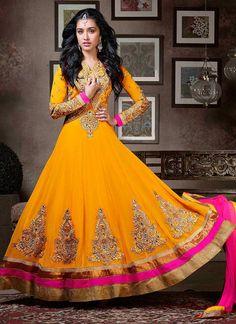 Shraddha Yellow Floor Length Anarkali Suit